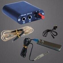 1pcs Professional Motor Power Rotary Coil Tattoo Machine Mini Power Box Kit Plug Foot Switch Set