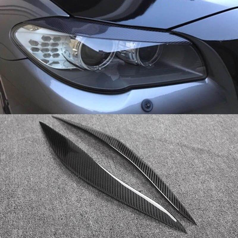 En Fiber de carbone Couverture Sourcils Paupière Garniture Autocollant Pour BMW Série 5 F10 F18 523 525 520 530 2010-2013