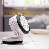 Portable USB Fan 2000mah Rechargeable Mini Fan With Spray Humidification Fan Mini Usb Fan Desktop Mobile