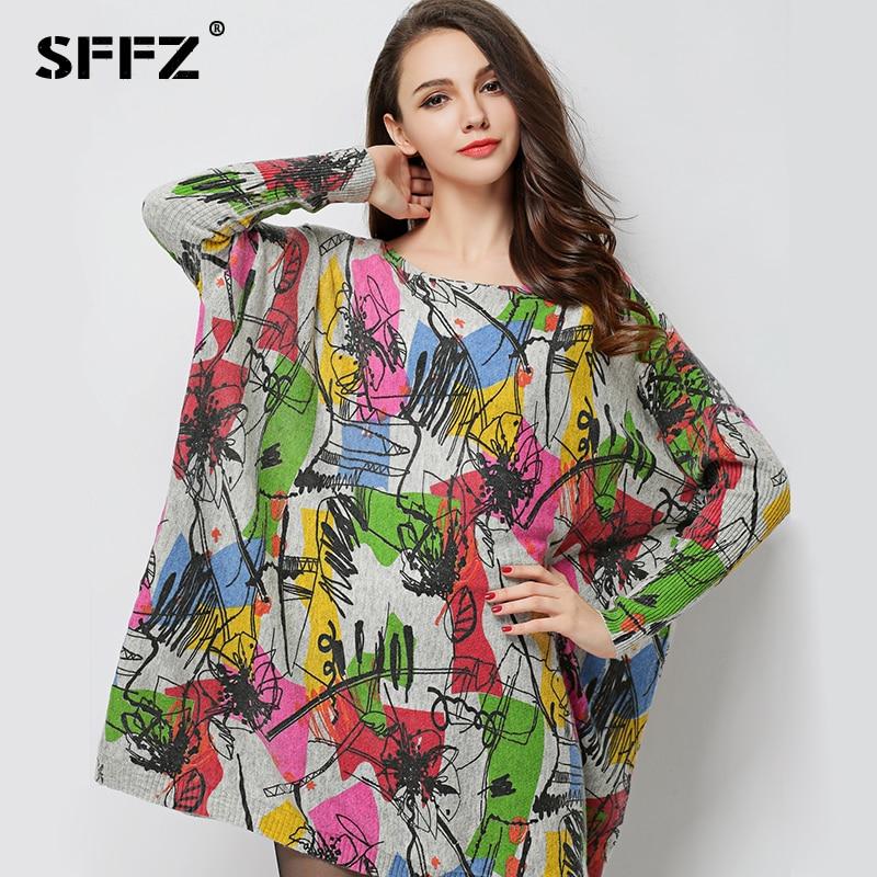 2017 Új őszi női gyapjú ruhák Plus méretű hosszú ujjú laza - Női ruházat