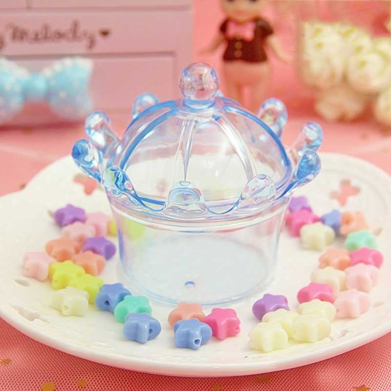 1pc 200ml Crown Storage Container Organizer Box For Light Clay Foam Slime Mud slime mud light clay