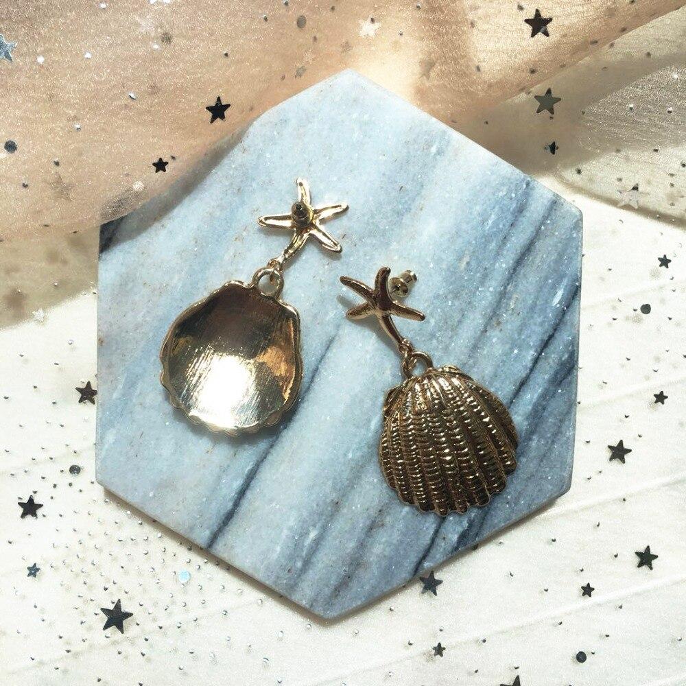 купить!  Серьги-подвески в форме металлической раковины Coco & willow для женщин  морские звезды  жеребцы-гво Лучши�