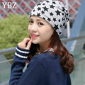 YBZ New Arrival Pattern Star Casual Beanies for Men Women Unisex Knitted Winter Hats 3 Colors Hip-hop Skullies Spring Cap Gorro