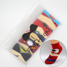 5 Pair/set Cartoon Superhero Women Socks Cotton Harajuku Kawaii Cute Fashion Girls Short Ankle Invisible Socks with Gift Bag
