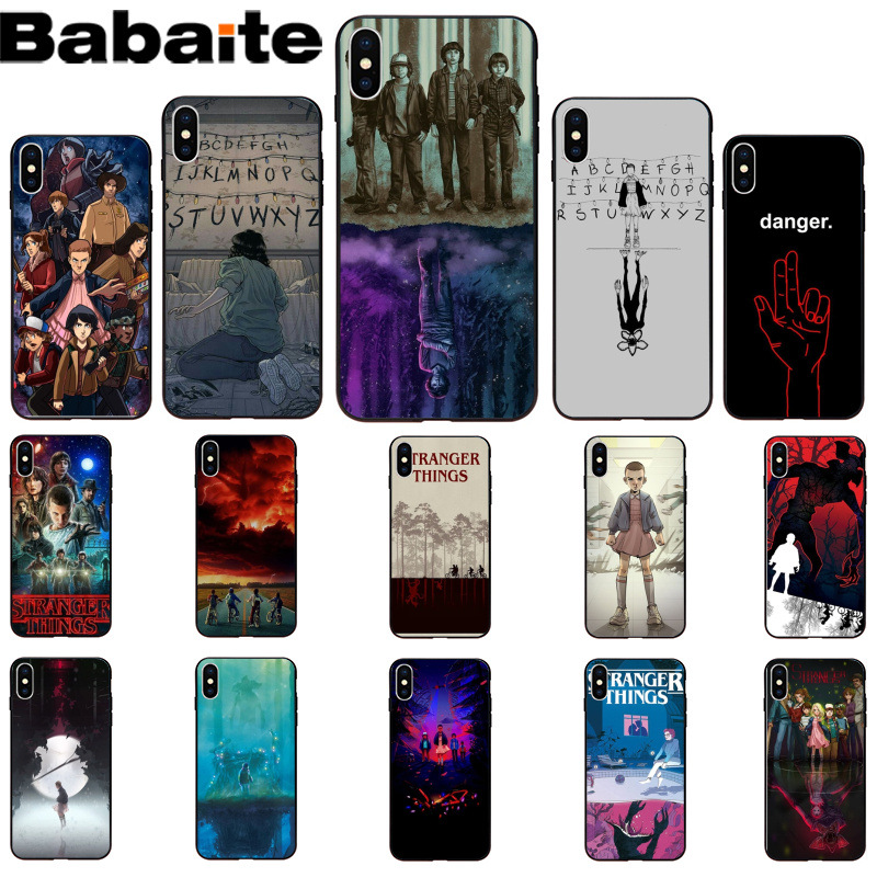 Us 1 59 20 Off Babaite Stranger Things Wallpaper High Quality Soft Tpu Phone Case Shell For Apple Iphone 8 7 6 6s Plus X Xs Max 5 5s Se Xr In