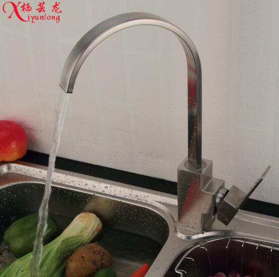 wholesale manufacturers stainless steel kitchen faucet quartet big bend hole sink faucet hotcold vegetables basin water tap. beautiful ideas. Home Design Ideas