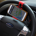 Volante do carro universal clipe montar titular para o iphone samsung mobile phone gps
