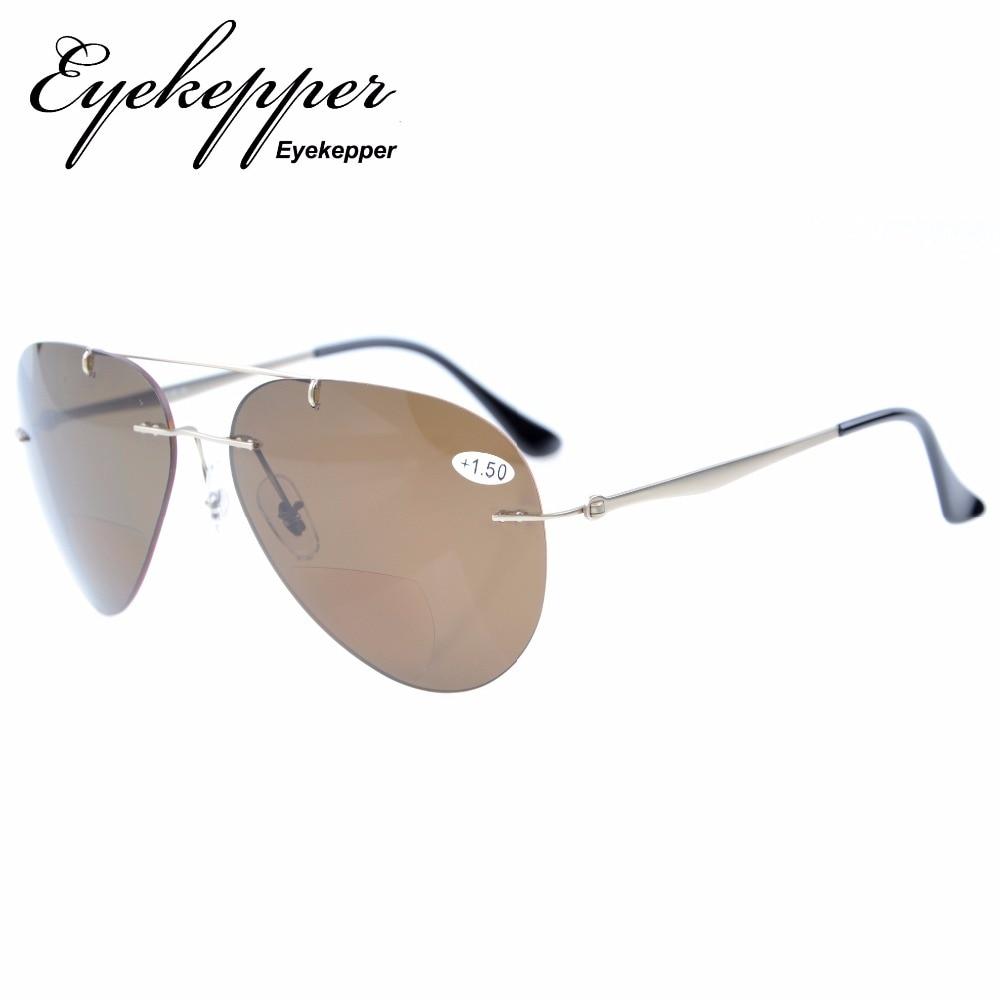 344235faf3a2 S1508 Bifocal Eyekepper Sun Readers Titanium Rimless Polarized Bifocal  Sunglasses +1.5 +2.0 +2.5. В избранное. gallery image