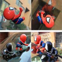 Spider-Man Arrampicata Finestra Auto Orments Spider-Man Giocattolo Auto All'interno Strumento Pannello Decorazione Specchio di Vista Posteriore Auto accessori