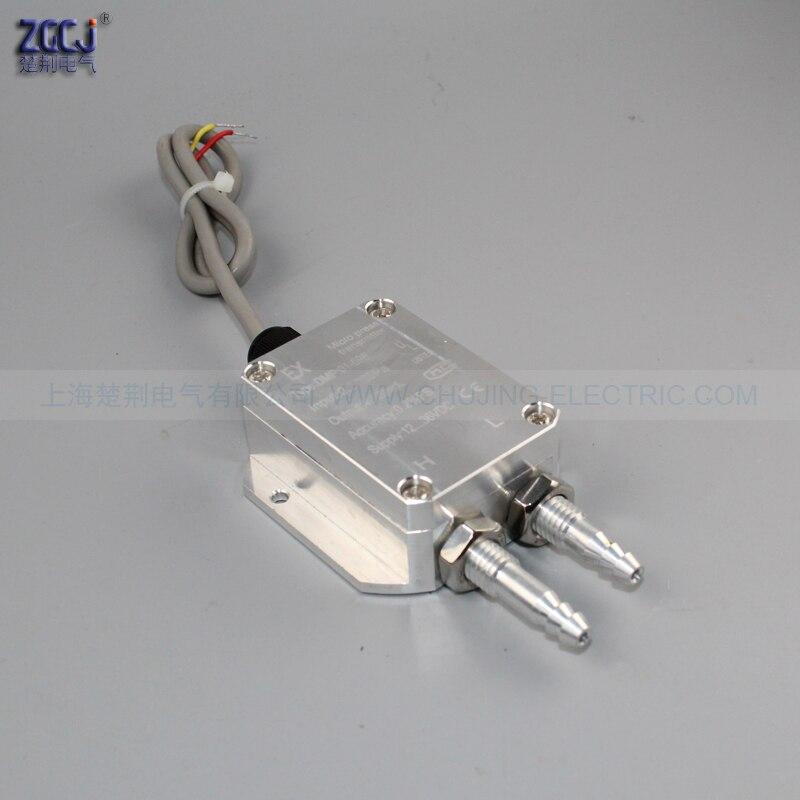 0-2kPa transmetteur de différence de pression d'air du vent 0-10 V DC tube de pression micro transmetteur de pression capteur différentiel