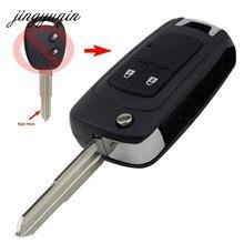 Jingyuqin – coque de clé à 2 boutons pour Chevrolet Aveo Epica LOVA Spark, télécommande repliable, lame droite de remplacement