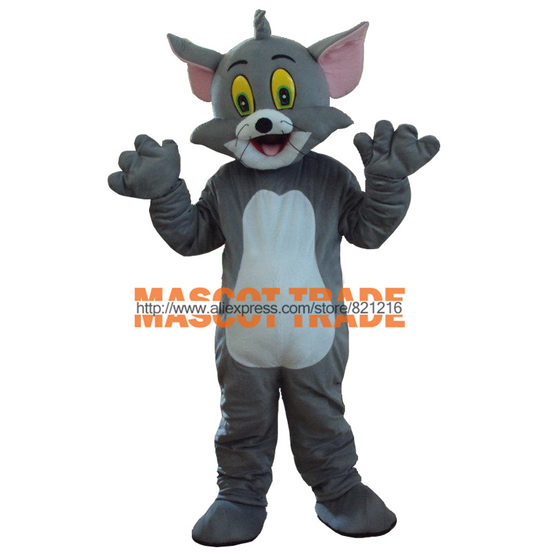 Mouse Over Image To Zoom Big Sale!! New Professional Tom Cat Mascot Costumes Fancy Dress Adult Size