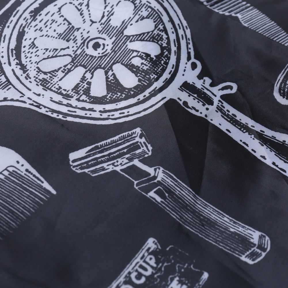 Печать парикмахерский салон обертывание Парикмахерская Резка волос накидка платье ткань 140*120 см