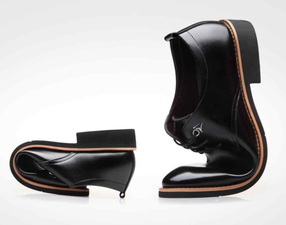 Роскошные брендовые кожаные мужские деловые туфли в итальянском стиле с острым носком черного цвета, дышащие классические туфли, мужские свадебные модельные туфли calzado