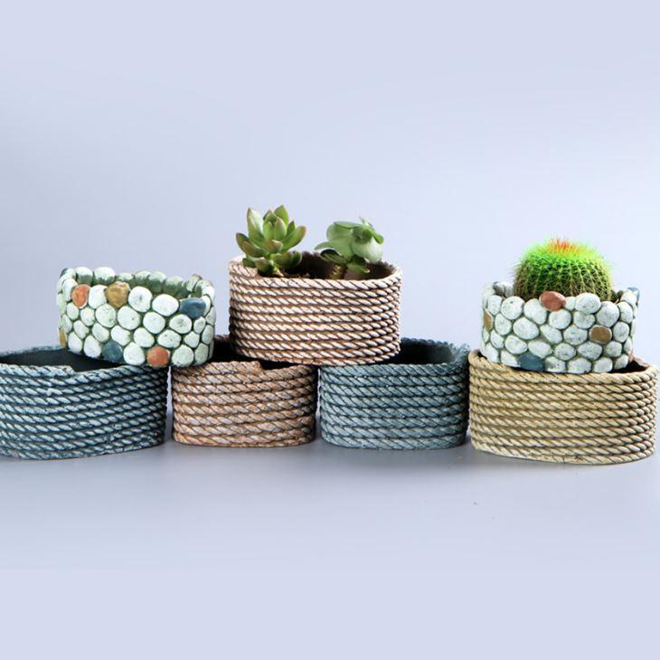 Round Flower pot moulds multi shapes cement molds DIY craft molds flower planter garden pot
