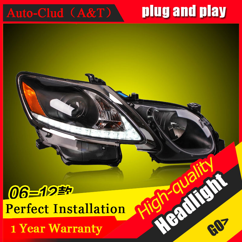 Auto Clud Car Styling For Lexus GS350 headlights 06-12 For GS350 head lamp led DRL front light Bi-Xenon Lens Double Beam HID KIT auto clud car styling for bmw 1series e87 120i 130i headlights for e87 head lamp led drl front bi xenon lens double beam hid kit