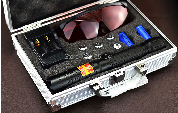 Strong power military blue laser pointer 10000m 450nm hunting flashlight lazer burning match/pop balloon/cigarettes+Free glasses