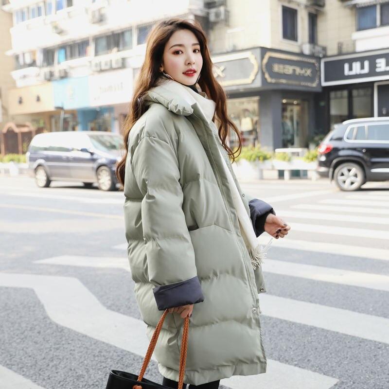 High Quality Winter Jacket Women   Parka   Coat Down Cotton Jacket Femme Slim Warm Thick Hooded Long Jacket   Parkas   Ladies Coats Z40