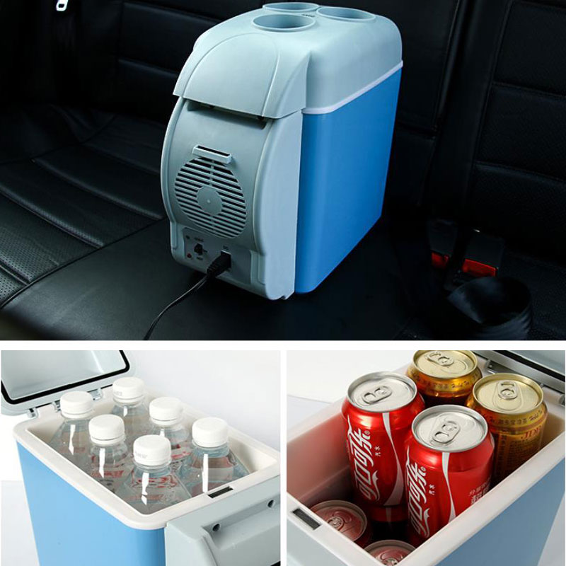 Multi-Function 7.5L Mini Car Refrigerator HomeTravel Vehicular Fridge Dual-use Box Cooler Warmer Temperature Control