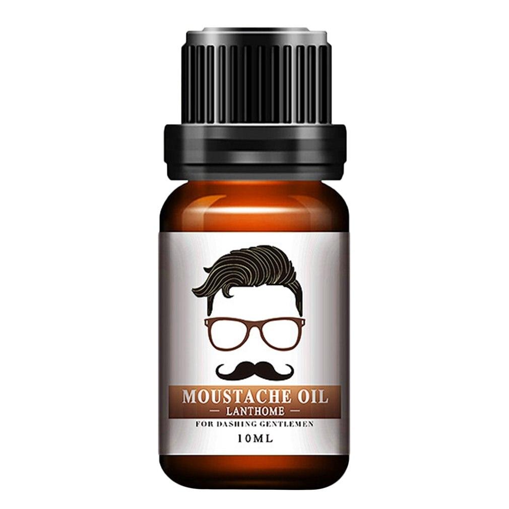 10ml Men Natural Organic Styling Moustache Oil Moisturizing Smoothing Dashing Gentlemen Beard Oil Face Hair Care Transparent