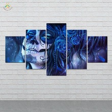 5 Pieces/set Abstract sugar girl Art Wall Paintings Picture Print on Canvas for Home Decoration