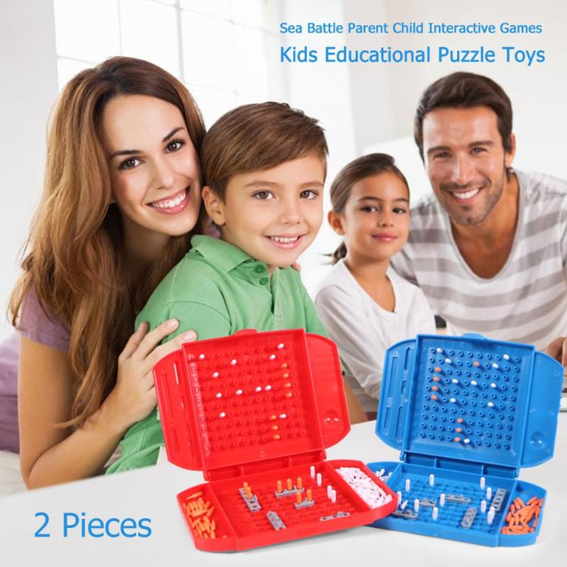2pcs Sea Battle Game Ships Strategy Board Game For 2 Players Family Parent Child Interactive Games Kids Education Puzzle Toys