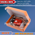 Sigma Box mobile phone unlock and repair tool for Nokia&ZTE&Motorola For MTK &Huawei+9cables without pack1+2