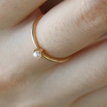 2019 YKNRBPH High Quality Freshwater Pearl Ring Exquisite Simple Fine Jewelry Rings
