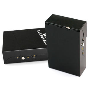 NEW Metal Alloy Cigarette Box Leather Cigar Cigarettes Case Holder Portable Tobacco Pack Storage Box Smoking Accessories Gadgets(China)