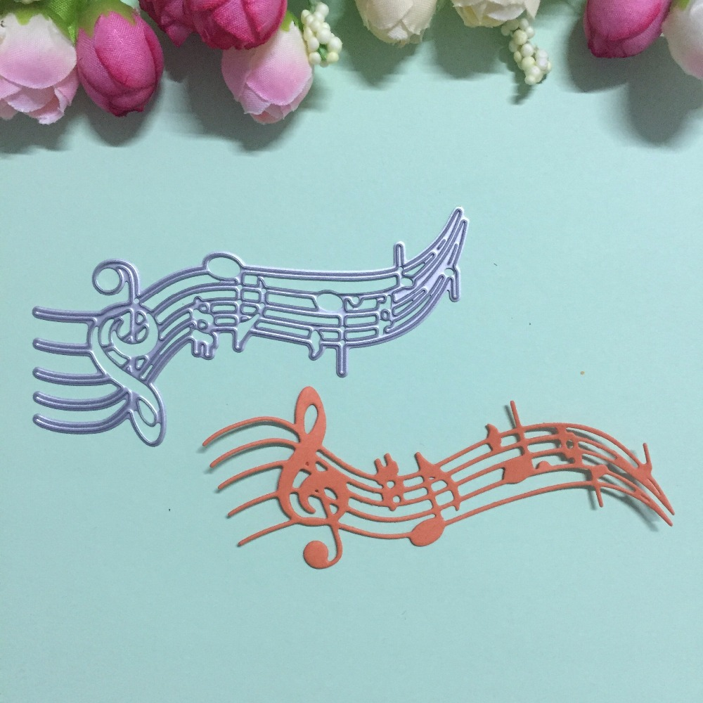 How to make scrapbook paper designs - Hot Arrival Musical Note Design Metal Cutting Dies Stencils For Diy Scrapbooking Embossing Decorative Craft Template Paper Card