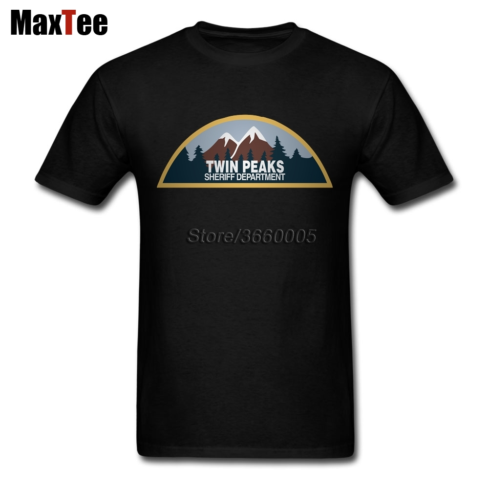 Sheriff Department Twin Peaks Tees Shirt Mens Geek Short Sleeve Thanksgiving Day Custom Plus Size Mens Tshirts