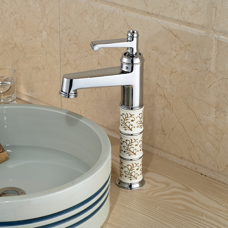 Unique Design Chrome Brass Bathroom Basin Faucet Single Hole ...