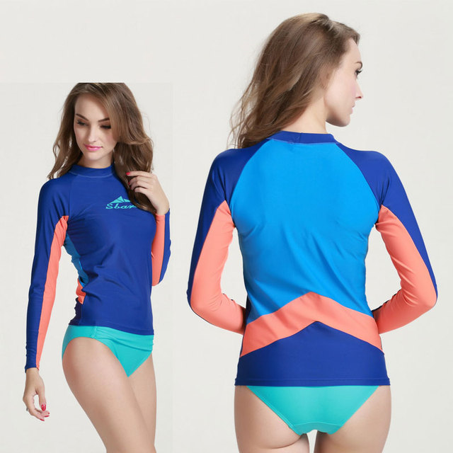 Aliexpress.com : Buy Long Sleeve Rash Guard Women's Sun UV ...