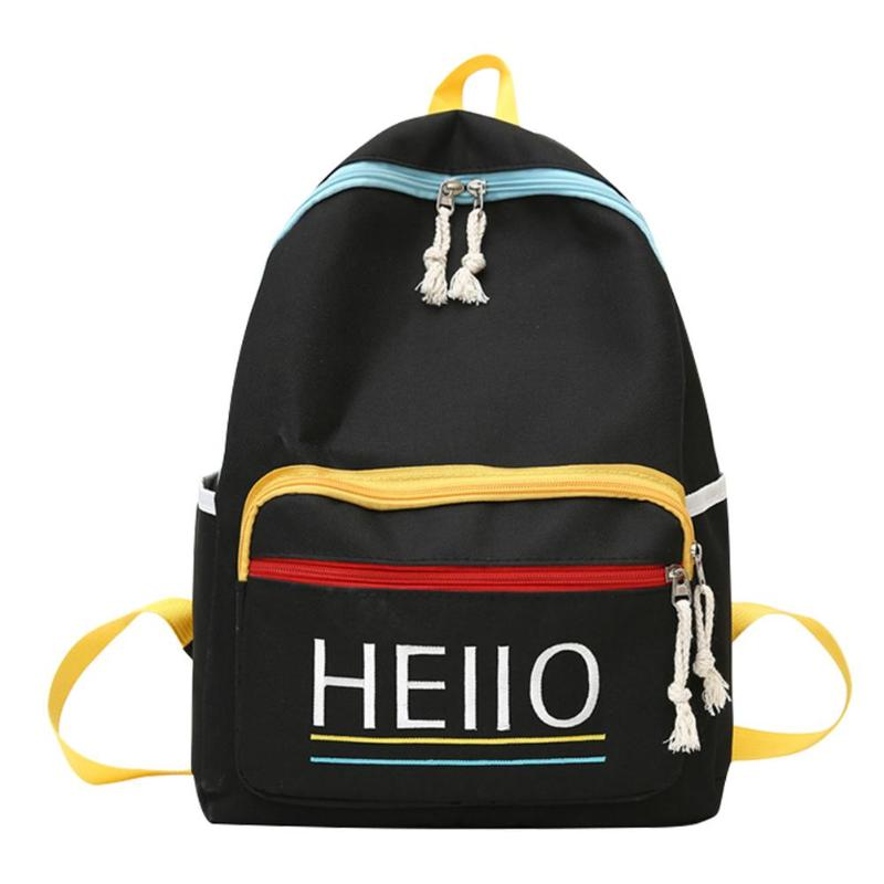 Large Capacity Travel Backpacks New Women Letter Print Shoulder School Bags Canvas Knapsack Outdoor Climbing Camping Bag Mochila