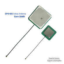 38dBi High Gain Active GPS Ipex Antenna 35*35mm ceramic BD Patch antenna 1575.42Mhz  10PCS / batch gps active internal antenna 28dbi high gain navigation aerial booster ipex 2