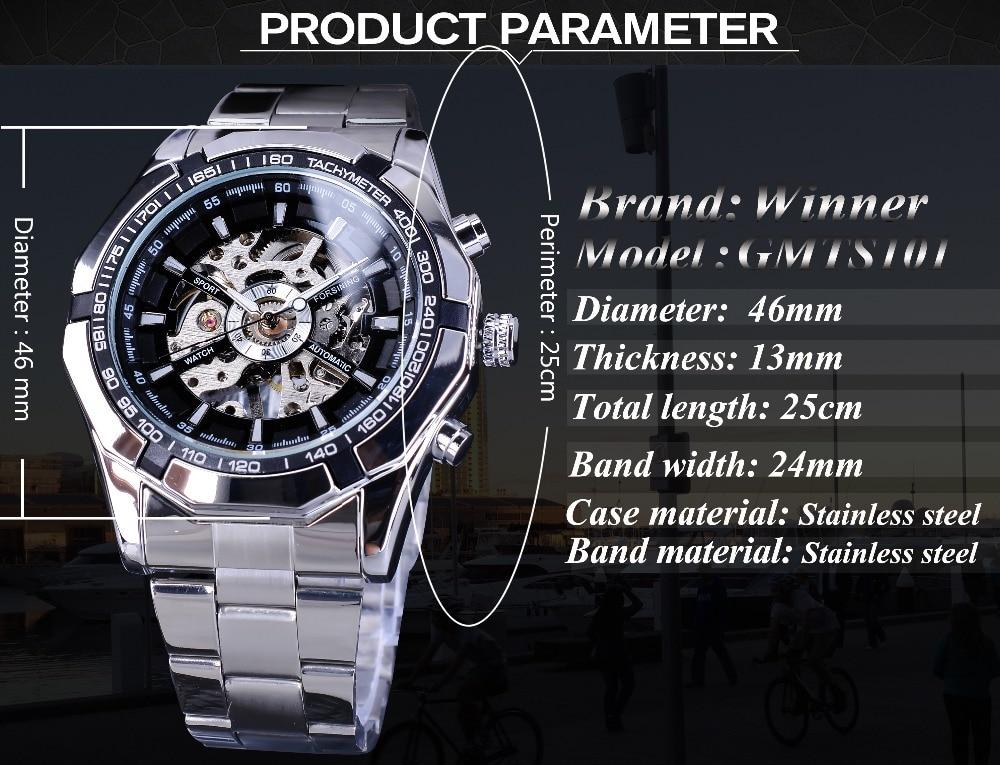 HTB1VnLoOhTpK1RjSZFMq6zG VXav Forsining 2019 Stainless Steel Waterproof Mens Skeleton Watches Top Brand Luxury Transparent Mechanical Sport Male Wrist Watches