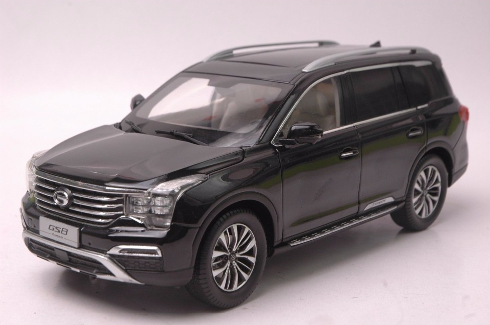 1:18 Diecast Model for GAC Trumpchi GS7 2016 Black SUV Alloy Toy Car Miniature Collection Gifts China Brand black diecast model car for 1 18 bmw 760li f02 luxury 7 series vehicle miniature toys alloy gifts collection minicar