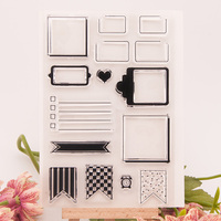scrapbook DIY paper card background clear STAMPS FOR PHOTO scrapbooking stamp for christmas wedding gift RZ-021