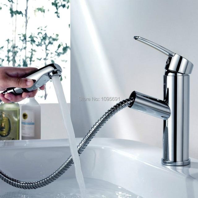 MAIDEER brass basin faucet Bathroom Lavatory Single Lever Vanity ...