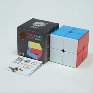 SHENGSHOU 2X2X2 MAGIC SPEED CUBE POCKET STICKERless PUZZLE CUBE PROFESSIONAL 2x2 SPEED CUBE EDUCATIONAL funny TOYS FOR CHILDREN