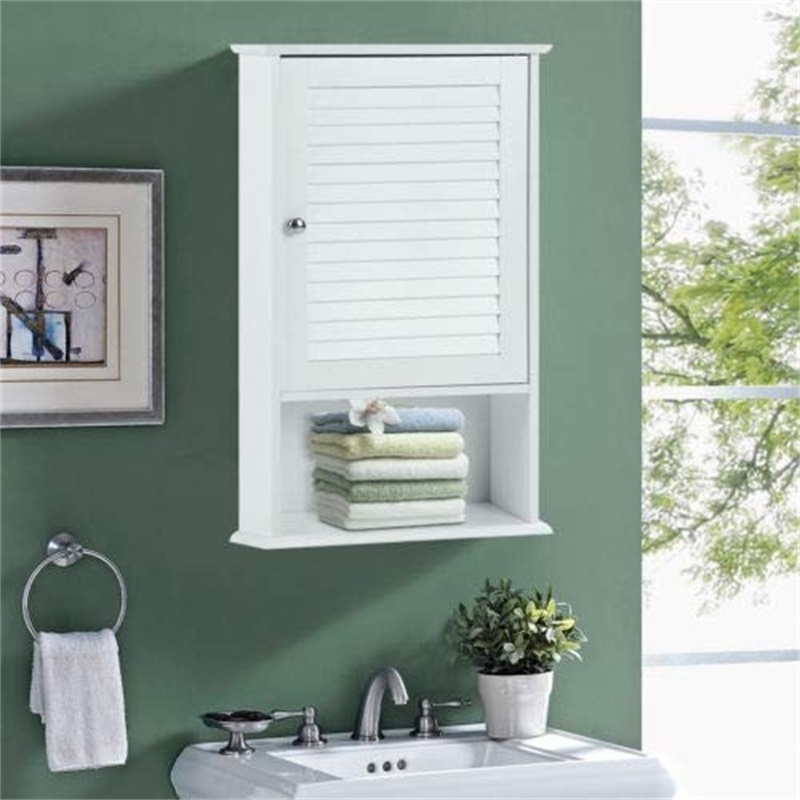 """27.5"""" H Wall Hanging Bathroom Storage Cabinet MDF White Cabinets BA7410"""