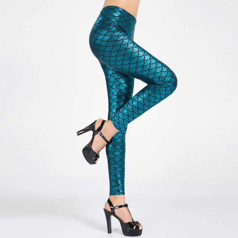 Женские эластичные леггинсы с цифровой печатью, яркие брюки