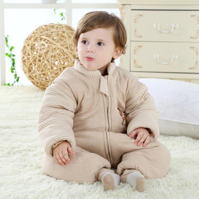 Crianças dos desenhos animados sacos de dormir anti kick saco de dormir de inverno de espessura algodão roupa do bebê por atacado bebê quente saco de dormir