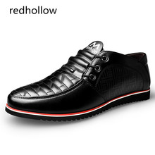 Fashion New 2017 Men Casual Shoes Genuine Leather Breathable Flat Shoes for Men Leather Shoes Basic Slip on Shoes Man