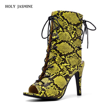 2019 Summer New Fashion Sexy Serpentine Gladiator Sandals Peep Toe Shoes Hollow Out Heel Pumps Sandals Heels Women Ankle Boots недорого