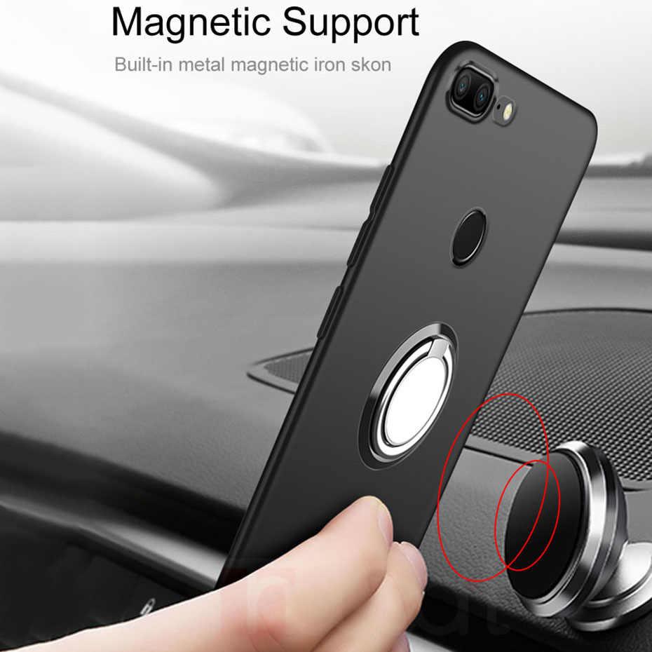 Funda para Xiaomi Redmi Note 6 Pro 7A fundas con soporte de anillo magnético funda de silicona suave para Xiaomi Redmi K20 6A Redmi Note 7 Pro