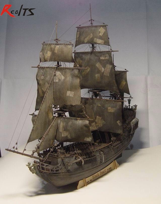 RealTS Black Pearl ship boat kit 1/96 scale 3d Laser Cut Diy Black Pearl Model Kit