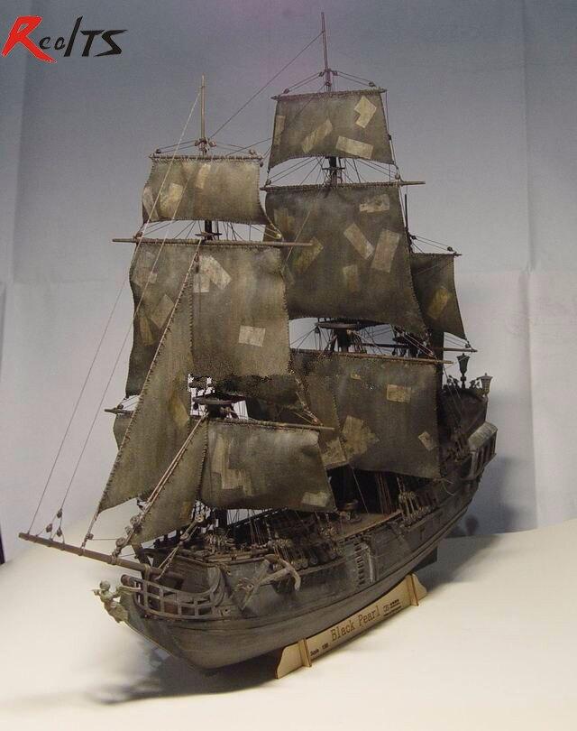 RealTS noir perle bateau kit 1/96 échelle 3d Laser Cut bricolage noir perle modèle Kit
