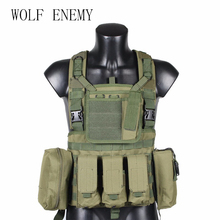 Military Tactical Vest Police Paintball Wargame Wear MOLLE B