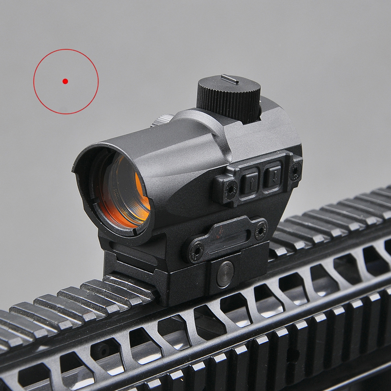 Tactical Red Dot Sight 1.5 MOA Mini Red Dot With 20mm Riser Mount Rifle Scope Hunting Optik For Air Rifle Hunting target solar power t1 t 1 red dot with riser mount and low mount tan ipsc hs403c hs503c